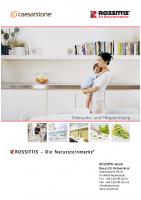 Caesarstone Gebrauchs- und Pflegeanweisung