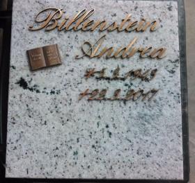 Columbarium Inschrift Bronze